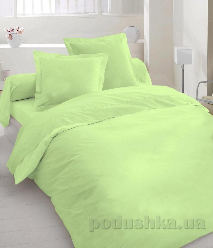 Комплект постельного белья TM Nostra Бязь гладкокрашеная салатовая Семейный комплект  TM Nostra