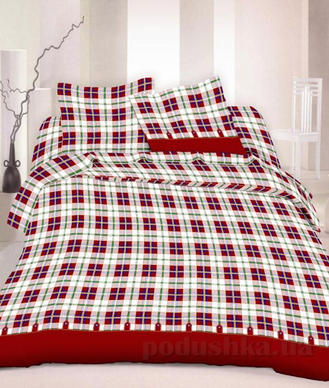Комплект постельного белья TM Nostra Бязь Голд бело-красная клетка
