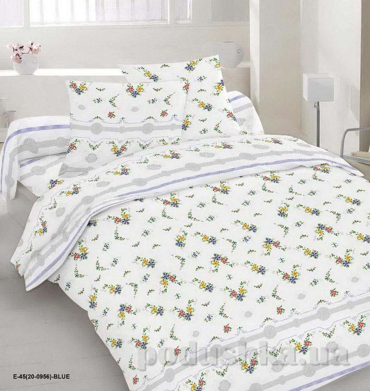 Комплект постельного белья TM Nostra Бязь Голд белый с цветочным принтом Двуспальный евро комплект  TM Nostra