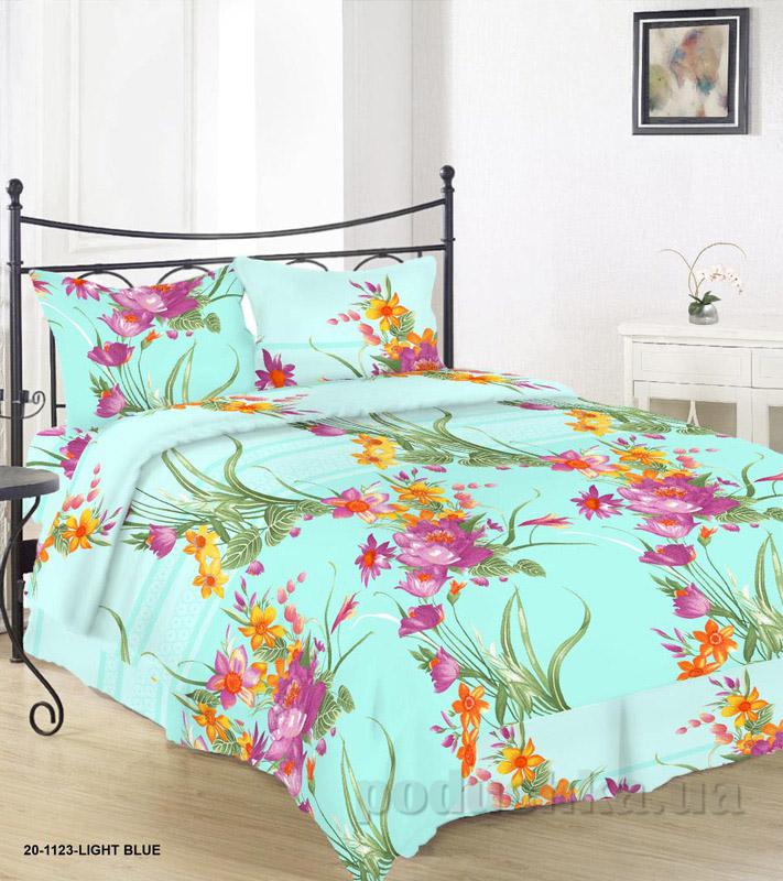 Комплект постельного белья TM Nostra Бязь Голд бирюзово-желтый цветы