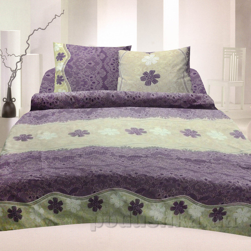 Комплект постельного белья TM Nostra Бязь Голд фиолетово-бежевый