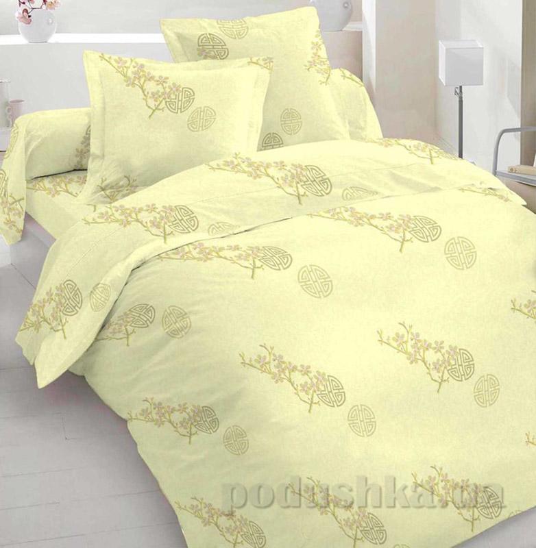 Комплект постельного белья TM Nostra Бязь Голд лимонно-желтый Семейный комплект  TM Nostra
