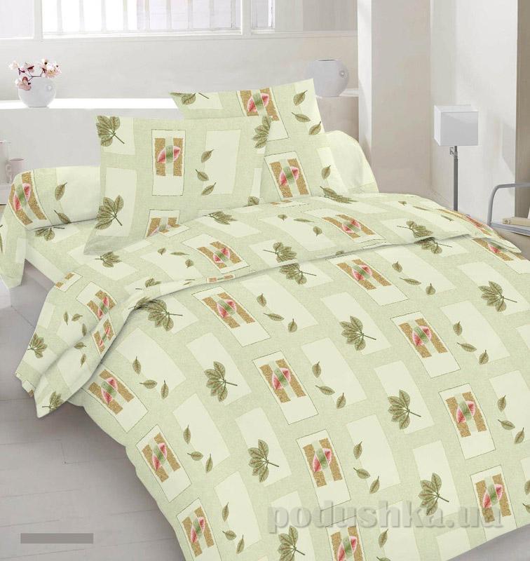 Комплект постельного белья TM Nostra Бязь Голд оливковый геометрия
