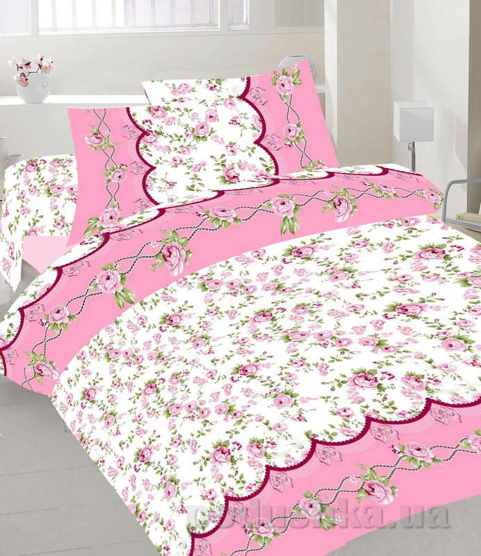 Комплект постельного белья TM Nostra Бязь Голд розово-белые цветы