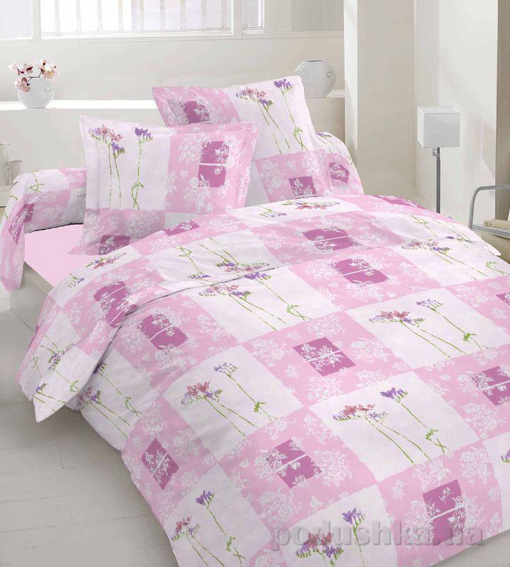 Комплект постельного белья TM Nostra Бязь Голд розово-сиреневый цветы