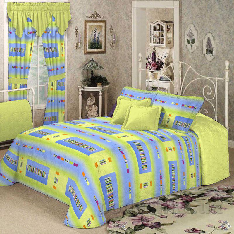 Комплект постельного белья TM Nostra Бязь Голд салатово-голубая геометрия