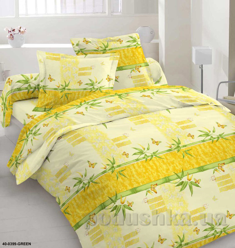 Комплект постельного белья TM Nostra Бязь Голд зелено-желтая композиция