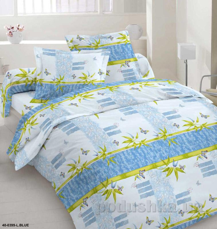 Комплект постельного белья TM Nostra Бязь Голд желто-голубой геометрия