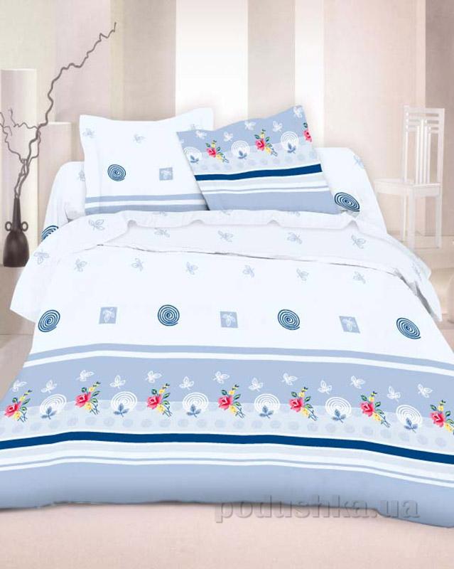 Комплект постельного белья TM Nostra Бязь Люкс бело-голубой рисунок