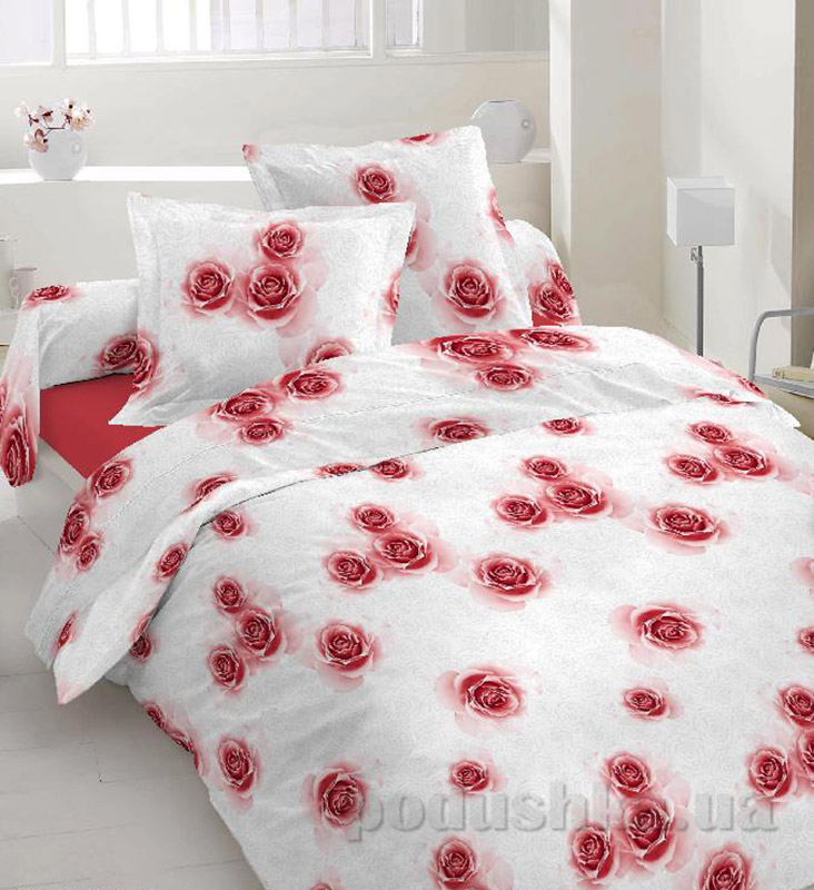 Комплект постельного белья TM Nostra Бязь Люкс бело-розовый розы