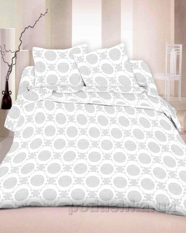 Комплект постельного белья TM Nostra Бязь Люкс бело-серый графика