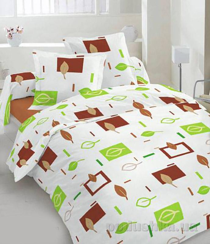 Комплект постельного белья TM Nostra Бязь Люкс белый геометрия