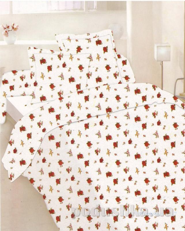 Комплект постельного белья TM Nostra Бязь Люкс белый розы