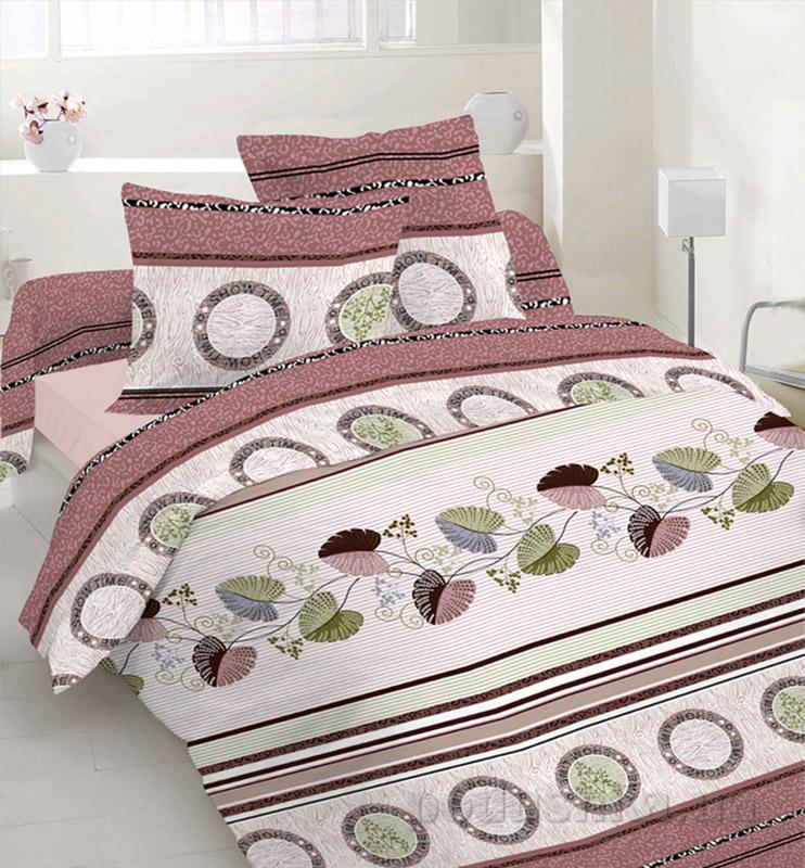 Комплект постельного белья TM Nostra Бязь Люкс бежево-коричневая композиция