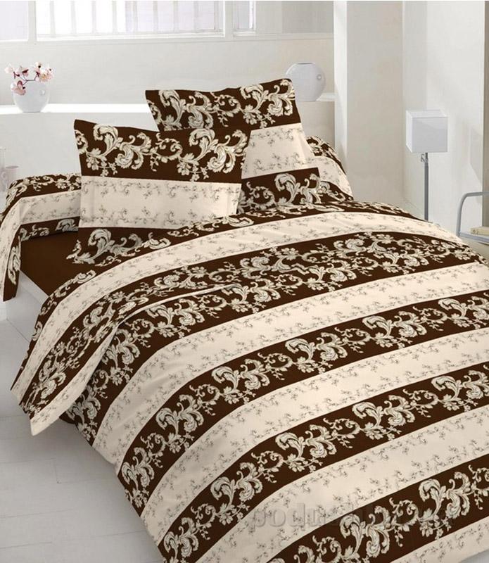 Комплект постельного белья TM Nostra Бязь Люкс бежево-коричневый рисунок