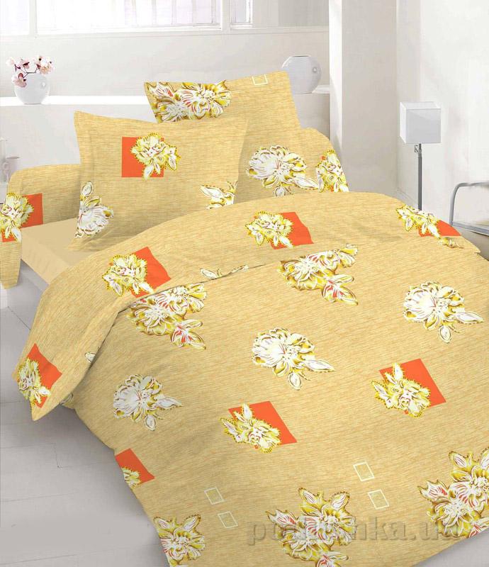 Комплект постельного белья TM Nostra Бязь Люкс бежевый комбинированный Двуспальный комплект  TM Nostra