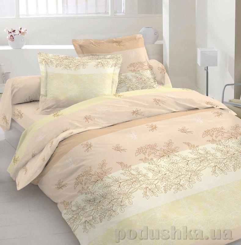 Комплект постельного белья TM Nostra Бязь Люкс бежевый орнамент
