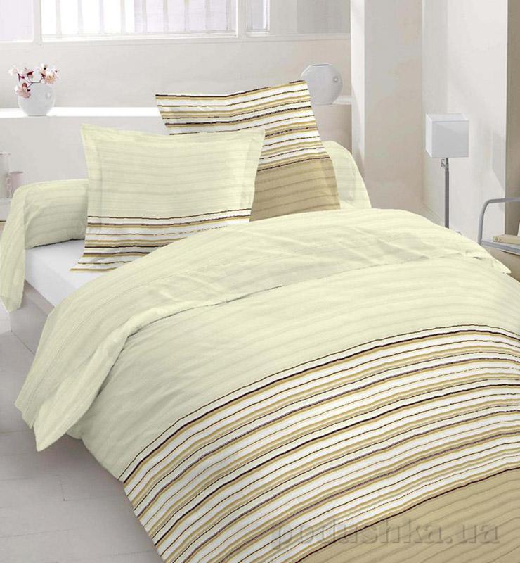 Комплект постельного белья TM Nostra Бязь Люкс бежевый полоска