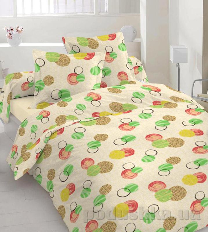 Комплект постельного белья TM Nostra Бязь Люкс бежевый шарики