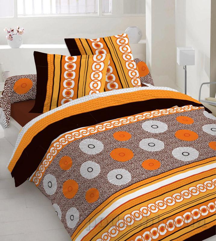 Комплект постельного белья TM Nostra Бязь Люкс оранжево-коричневая композиция