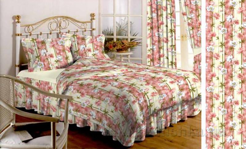 Комплект постельного белья TM Nostra Бязь Люкс розовые цветы