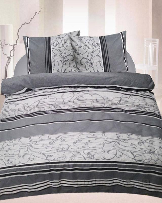 Комплект постельного белья TM Nostra Бязь Люкс серый комбинированный