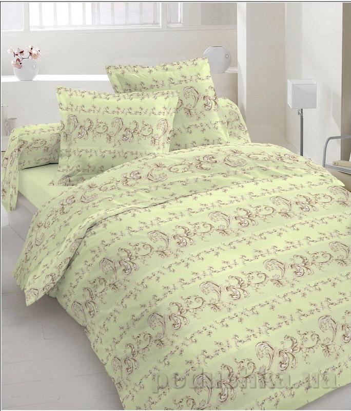 Комплект постельного белья TM Nostra Бязь Люкс светло-зеленый узор