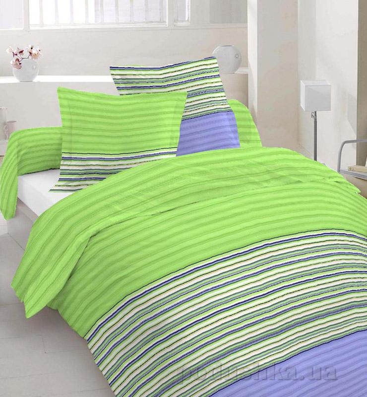 Комплект постельного белья TM Nostra Бязь Люкс зелено-фиолетовый полоска