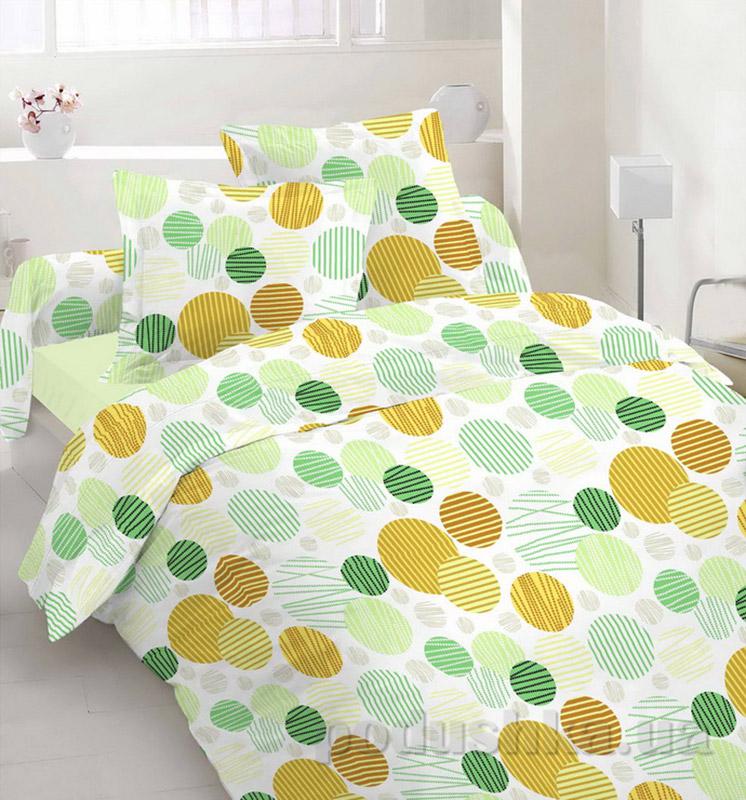 Комплект постельного белья TM Nostra Бязь Люкс зелено-коричневый горох