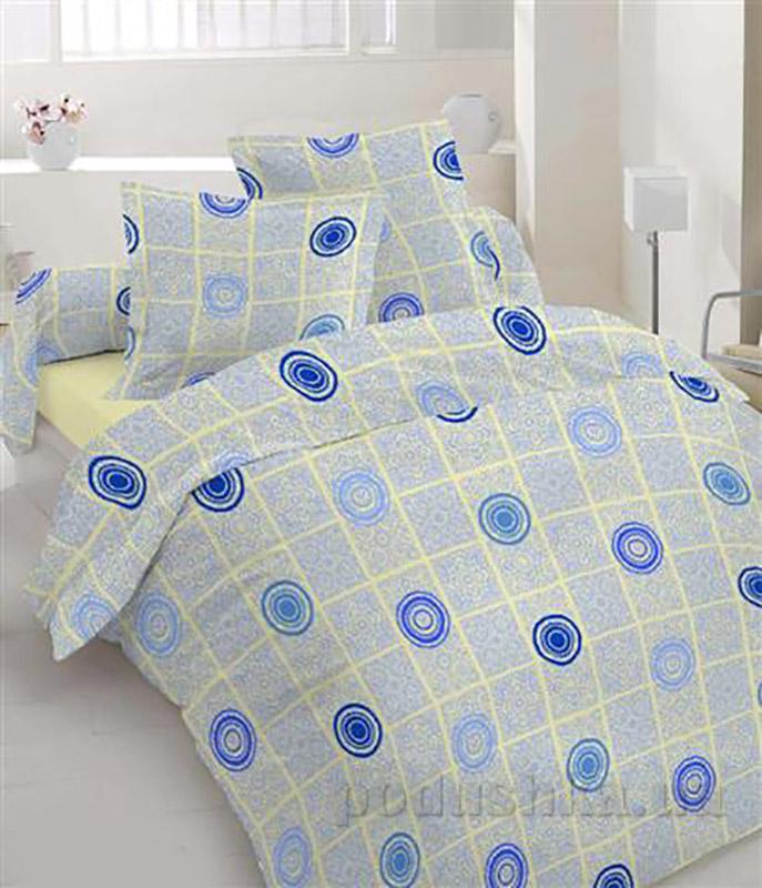 Комплект постельного белья TM Nostra Бязь Люкс желто-синий рисунок