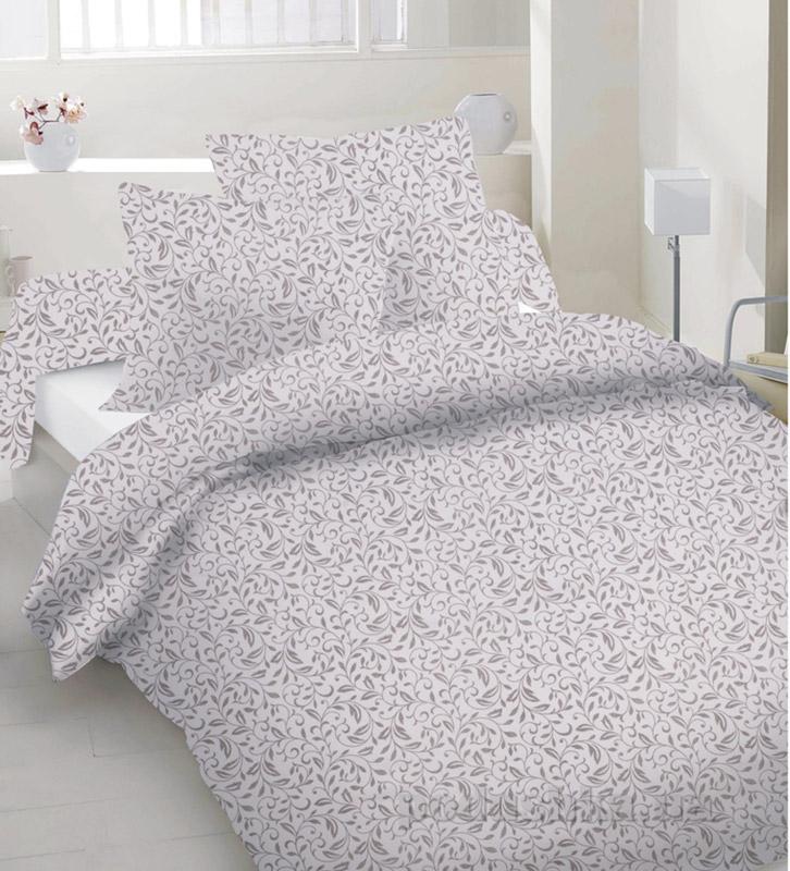 Комплект постельного белья TM Nostra Сатин бежевый узоры