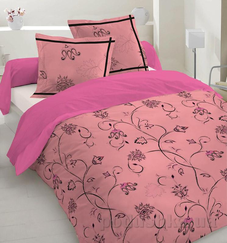Комплект постельного белья TM Nostra Сатин розово-черный узор