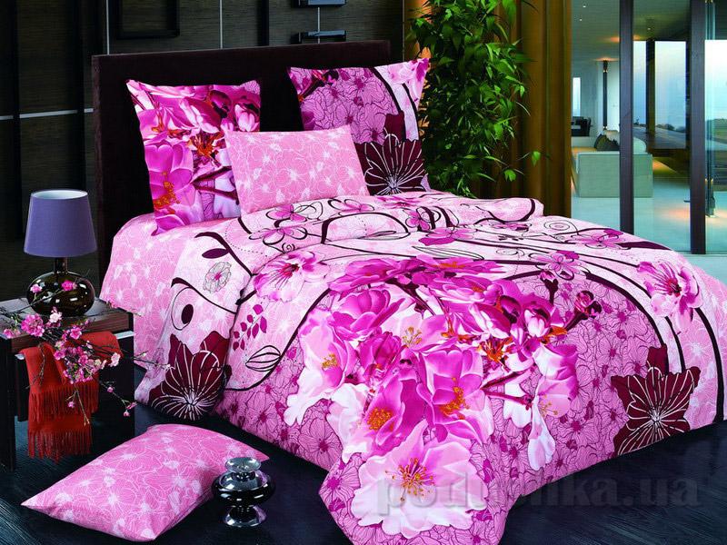 Комплект постельного белья TM Nostra Сатин розовый цветы