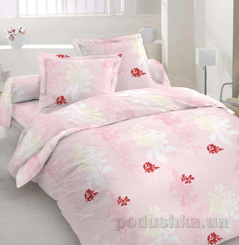 Комплект постельного белья TM Nostra Сатин розовый Веточки