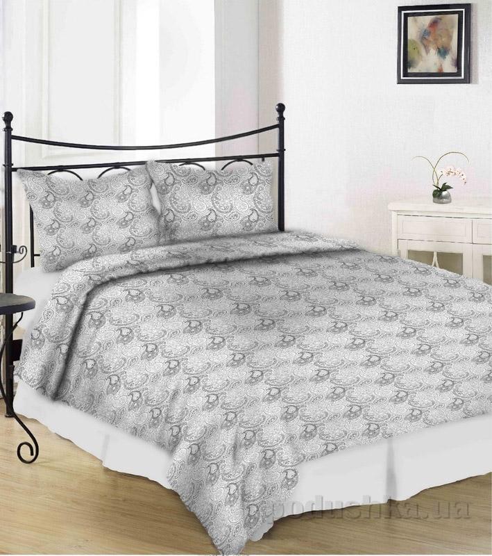 Комплект постельного белья TM Nostra Сатин серый узоры