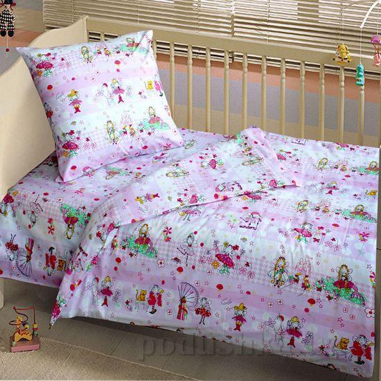 Постельное белье в кроватку Блакит Стрекоза Детский комплект наволочка 40х60 (1 шт) Блакит
