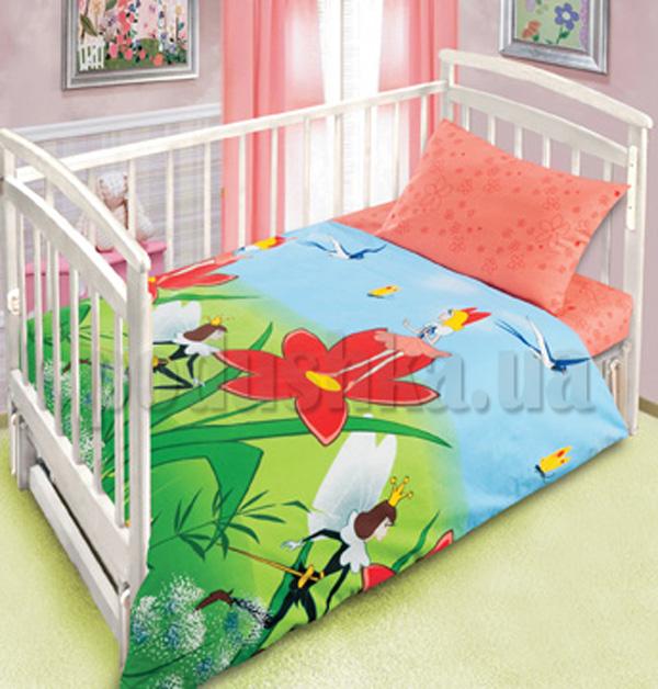 Постельное белье в кроватку Дюймовочка