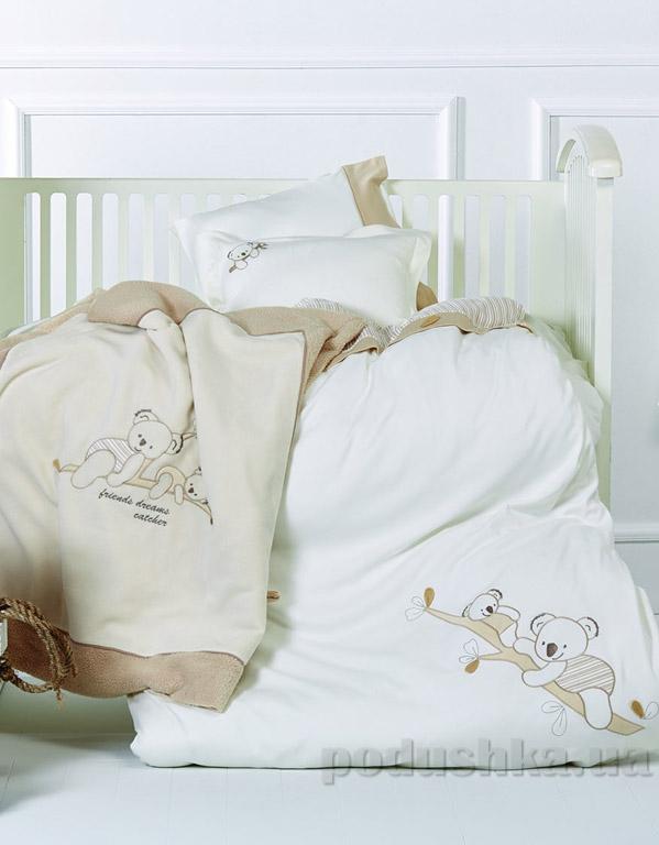 Постельное белье в кроватку и игрушка Karaca Koala