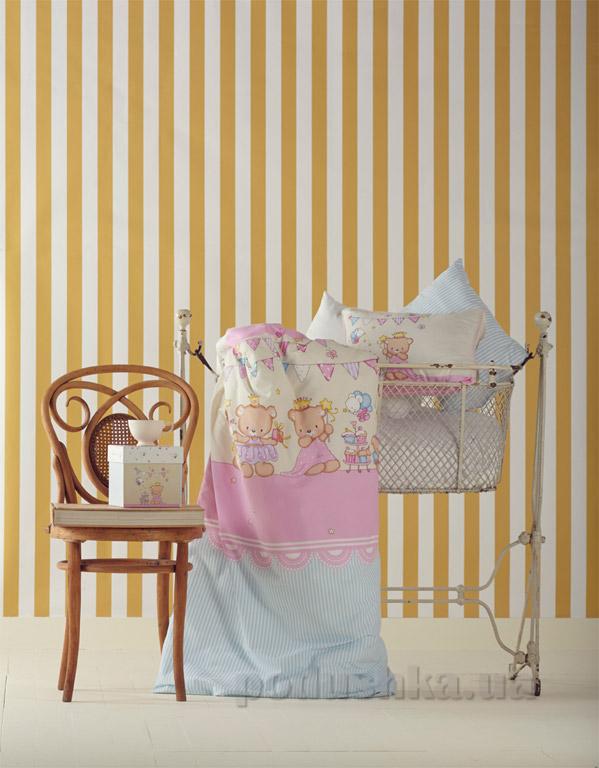 Постельное белье в кроватку Karaca Amie розовый