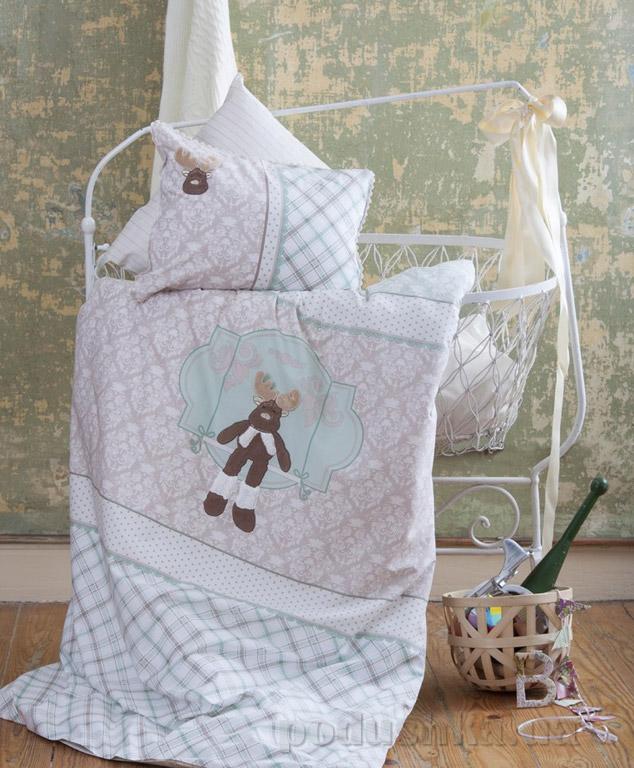 Постельное белье в кроватку Karaca Deer зелёный