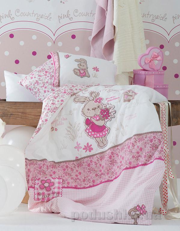 Постельное белье в кроватку Karaca Lovely розовый
