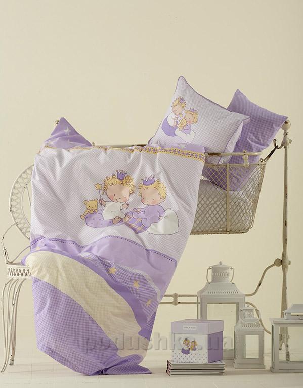 Постельное белье в кроватку Karaca Mini фиолетовый