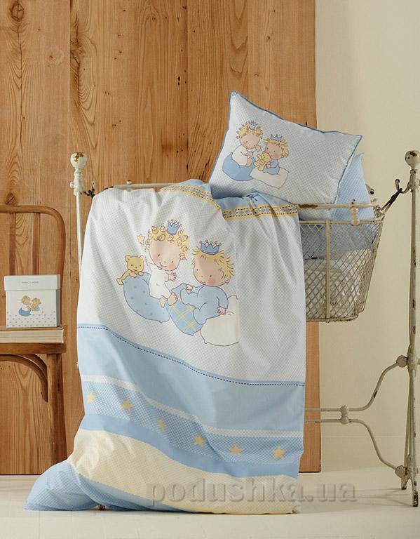 Постельное белье в кроватку Karaca Mini синий