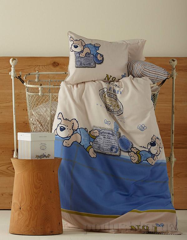 Постельное белье в кроватку Karaca Mr.Pati синий