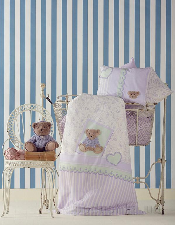 Постельное белье в кроватку Karaca Sally лиловый