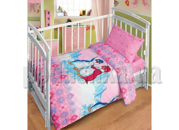 Постельное белье в кроватку Лоло и Пепе розовый