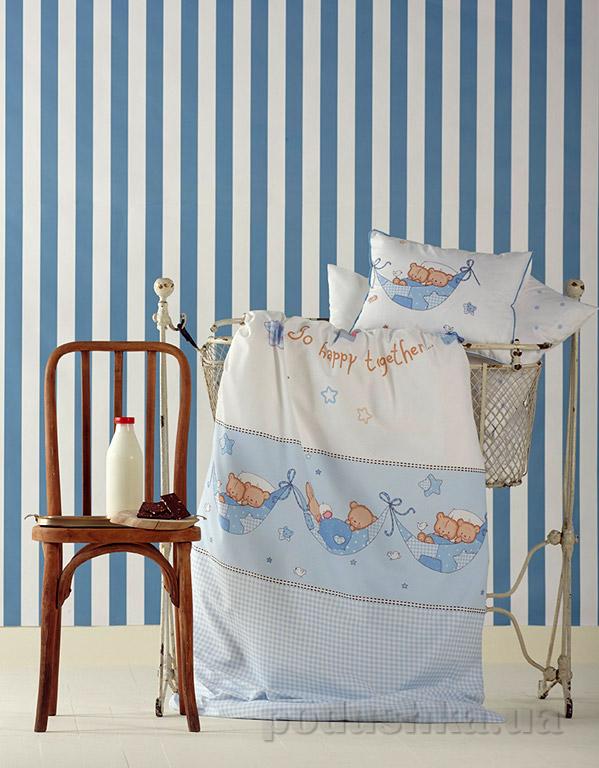 Постельное белье в кроватку Mel белый