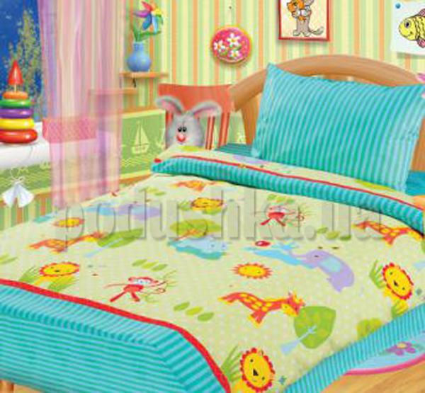 Постельное белье в кроватку Зоопарк