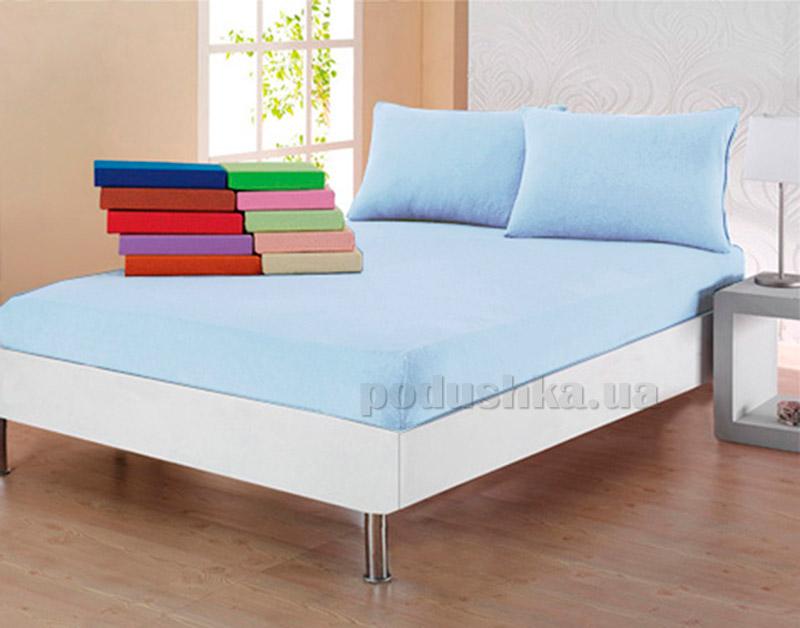Комплект простынь с наволочками Ella Line голубой
