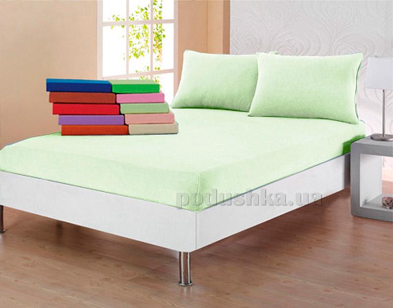 Комплект простынь с наволочками Ella Line зеленый